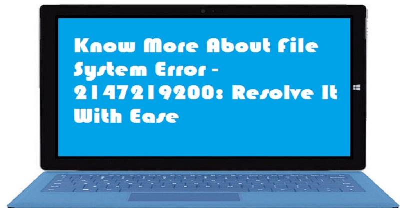 File System Error -2147219200