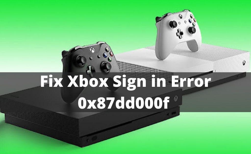Xbox sign in error
