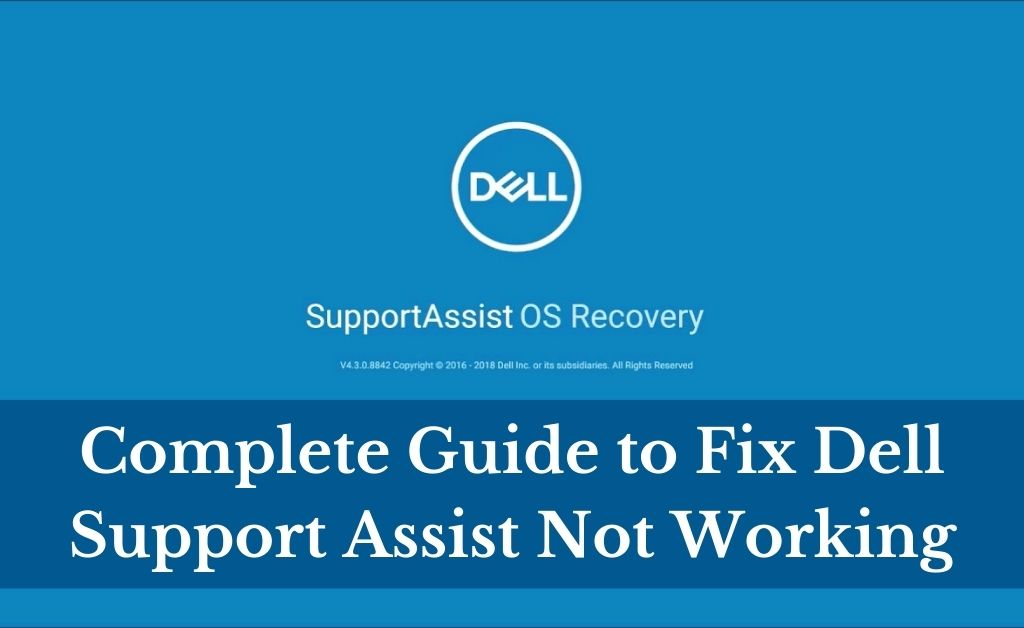 dell support assist not working