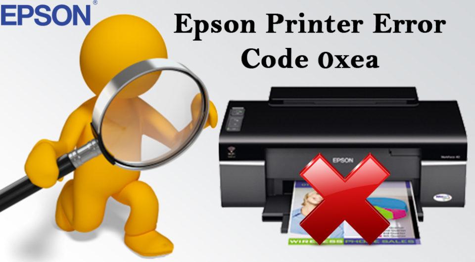 Epson Printer Error Code 0xea