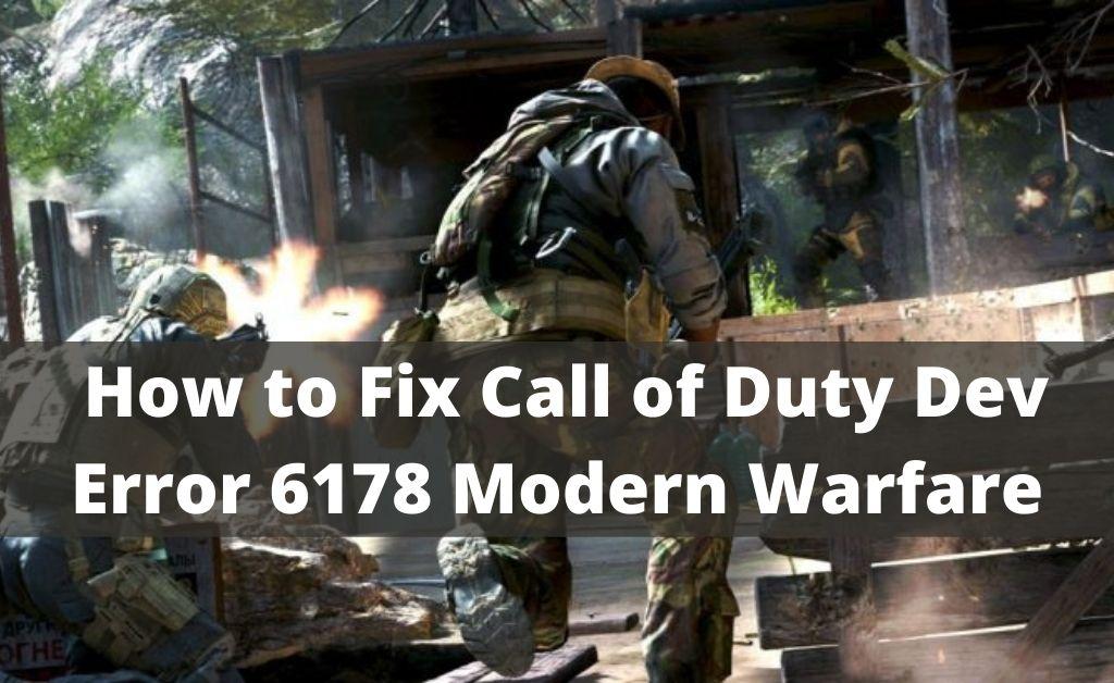 dev error 6178 modern warfare