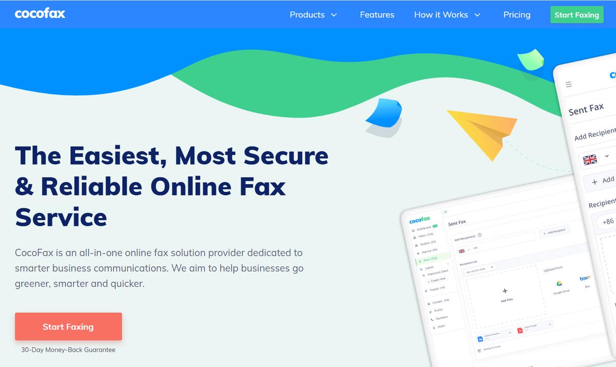 cocofax-homepage