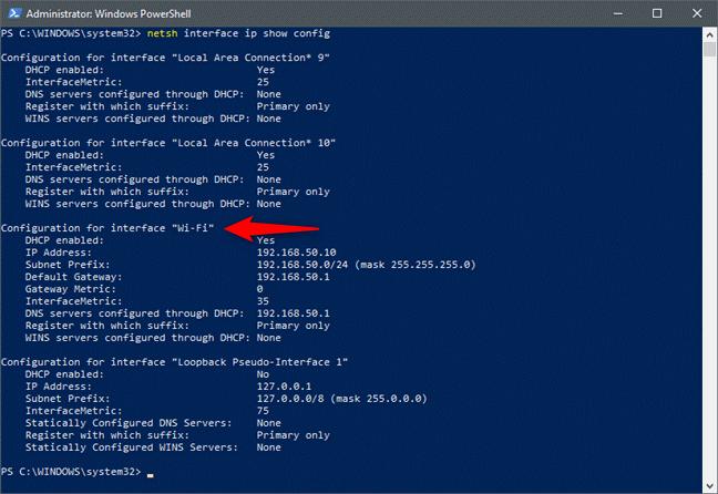 Changing IP address by using CMD